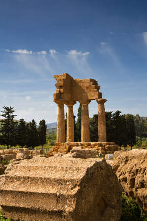 agrigento: Greek Temple of Castor and Pollux, Agrigento, Sicily, Italy