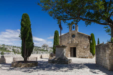 les: Small church in Les Baux De Provence, Provence, France