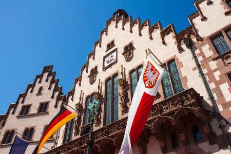 roemerberg: Town hall Roemer of Frankfurt, Hessen, Germany Stock Photo