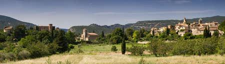 Panorama of Lourmarin, Provence, France