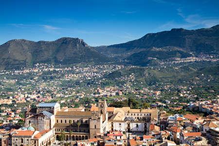 Viewpoint - City of Monreale, Sicily, Italy Stock Photo