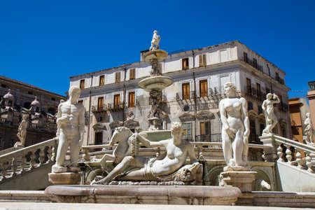 Fontana Pretoria of Palermo, Sicily, Italy