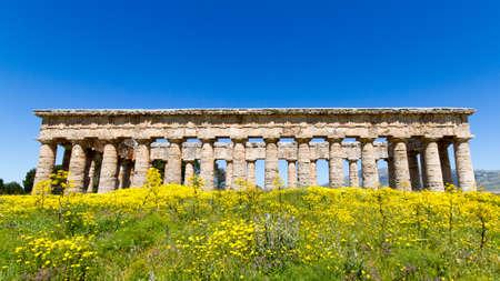 segesta: Ancient greek temple of Segesta, Sicily, Italy