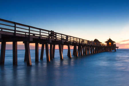 Pier of Naples at sunset, Florida, USA photo