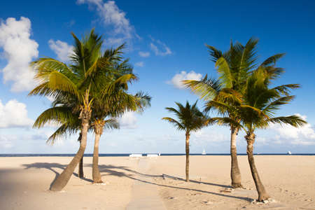 Secluded beach at Fort Lauderdale, Florida Stock Photo