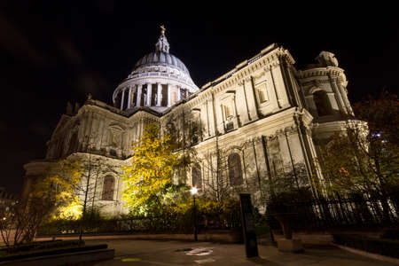 St Pauls Cathedral at night - Wide Angle Version, London, England