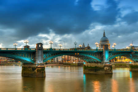 Southwark Bridge - HDR Version, London, England photo