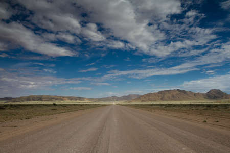 Endless Gravel Road in the Naukluft Mountains, Namibia Stock Photo - 27478052