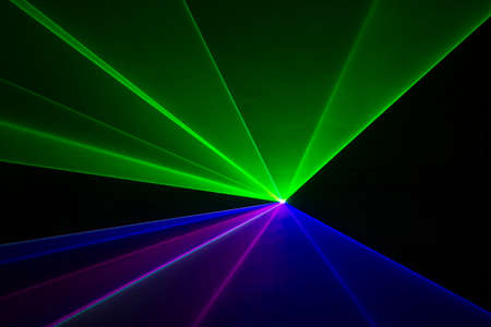 laser beam: Blue, green, and red laser beams