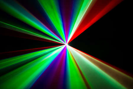 Colourful Laser beams shooting in all directions Stock Photo