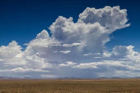 thundercloud: Temporale sopra il deserto del Namib, Namibia, Africa Archivio Fotografico