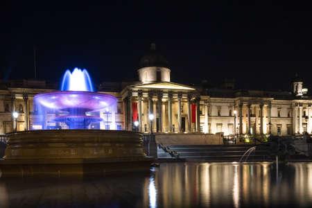 trafalgar: Trafalgar Square at night, London, England Editorial