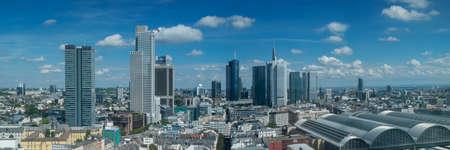 hessen: Panorama of the skyline of Frankfurt, Hessen, Germany Stock Photo