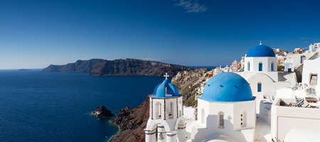 Panorama of Oia, Santorini, Cyclades, Greece