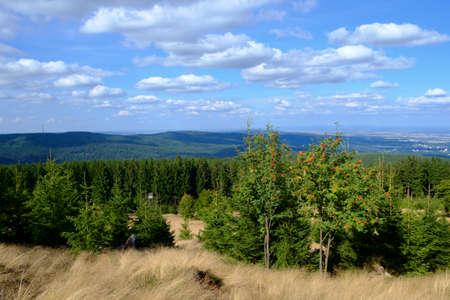 hessen: Lookout from the peak of the Altkoenig mountain, Taunus, Hessen, Germany