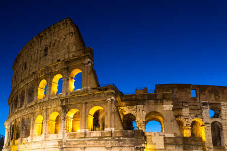 blue hour: Coliseum during the blue hour, Rome, Italy