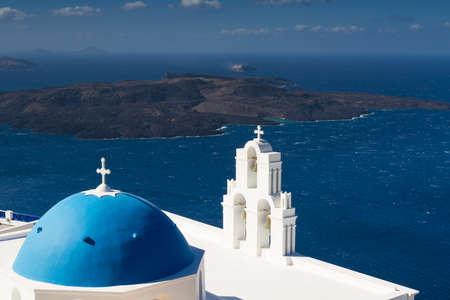 firostefani: Church on top of the crater, Firostefani, Santorini