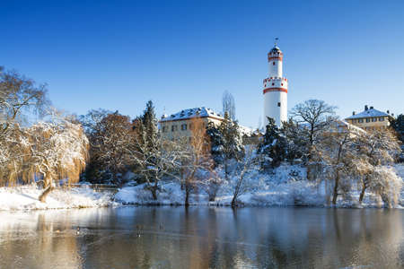hesse: Castle Bad Homburg in the winter, Hesse, Germany