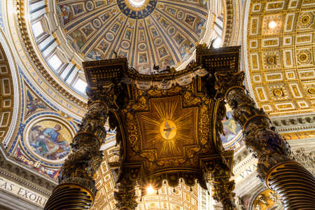 st peter: ROME, ITALY - December 20, 2014: The dome of St. Peter