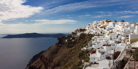 cycladic: Panorama del villaggio delle Cicladi Imerovigli, Santorini, Grecia