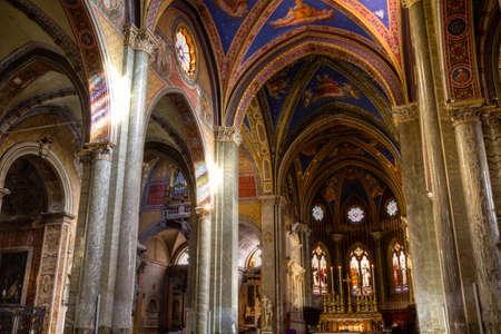 extant: ROMA, ITALIA - 17 de enero 2015: La Minerva es el �nico ejemplo existente de edificio de la iglesia g�tica original, en Roma. Editorial