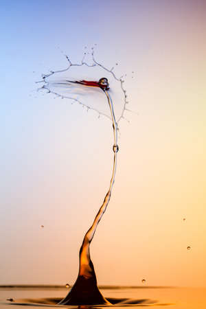 high speed: Water sculpture - The Pirate - High Speed Photography