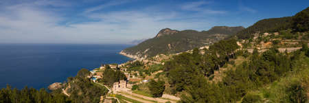 baleares: Panorama of the west coast of Mallorca Baleares Spain Stock Photo