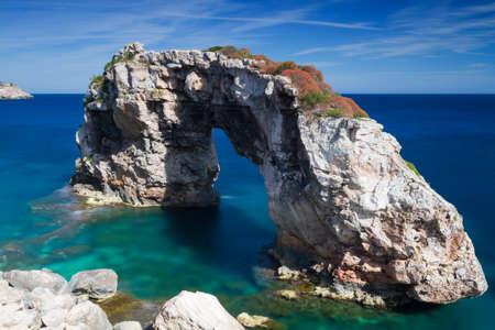 Arche naturelle Es Pontas Mallorca Baleares Espagne Banque d'images