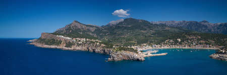 baleares: Panorama of Port Soller Mallorca Baleares Spain