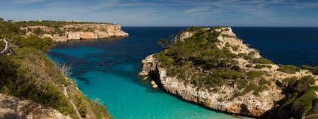 Panorama of Cala des Moro Mallorca Baleares Spain