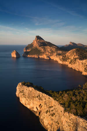 baleares: Cap Formentor with colomer rock  Long exposure version Mallorca Baleares Spain
