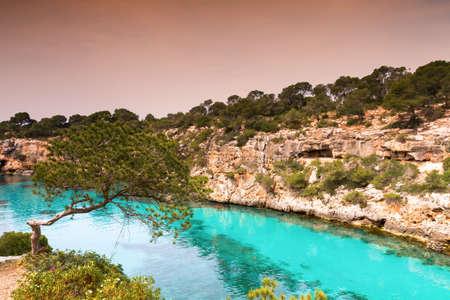 Turquiose waters of Cala Pi Mallorca Baleares Spain