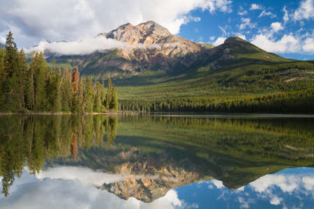 jasper: Pyramid lake reflections, Jasper National Park, Alberta, Canada