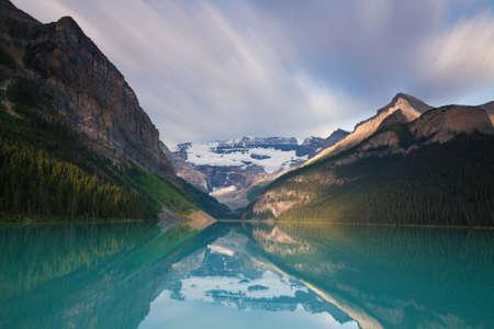 louise: Glacier reflecting at Lake Louise, Alberta, Canada