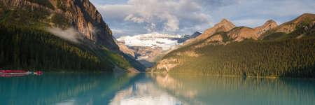 louise: Panorama of Lake Louise, Alberta, Canada