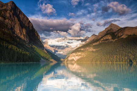 Lake Louise in the early morning light, Alberta, Canada
