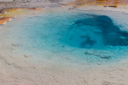 volcanism: Silex spring at Lower Geyser Basin, Yellowstone National Park, Wyoming, USA