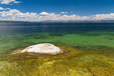 volcanism: Fishing cone at West Thumb Geyser Basin, Yellowstone National Park, Wyoming, USA