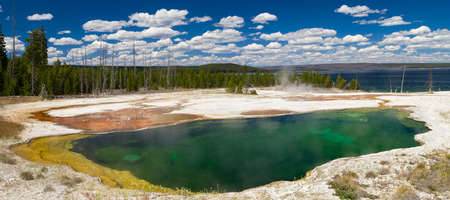 Abyss Pool at West Thumb Geyser Basin, Yellowstone National Park, Wyoming, USA