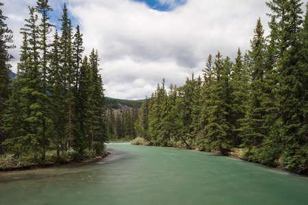 alberta: Maligne river - Long exposure version, Alberta, Canada