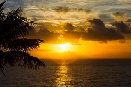Sunrise over the atlantic ocean, Madeira, Portugal