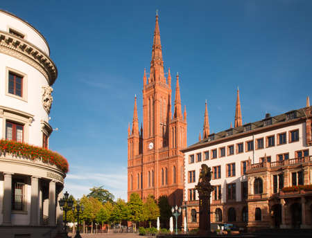 neo gothic: Neo-Gothic Marktkirche Wiesbaden, Hesse, Germany Editorial