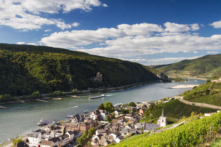 hessen: Lookout Middle Rhine Valley near Assmannshausen, Hessen, Germany