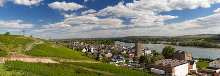 hessen: Panorama of the city of Ruedesheim, Hessen, Germany