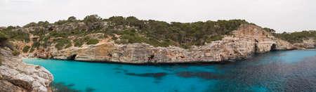 Panorama of Cala des Moro, Mallorca, Spain