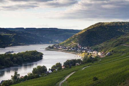 hessen: Middle Rhine Valley near Lorch, Hessen, Germany Stock Photo