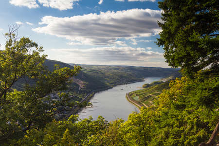 Viewpoint Georgs Ruh at the Middle Rhine Valley, Germany Stok Fotoğraf