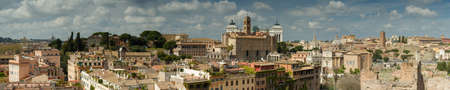 palatine: Panorama of Rome as seen from the Palatine hill, Italy