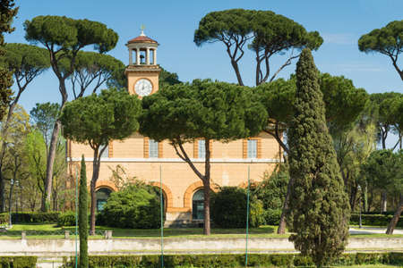 villa borghese: Casina dellOrologio at park Villa Borghese, Rome, Italy