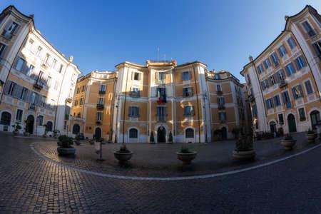''wide angle'': Piazza di SantIgnazio - Wide Angle Version, Rome, Italy